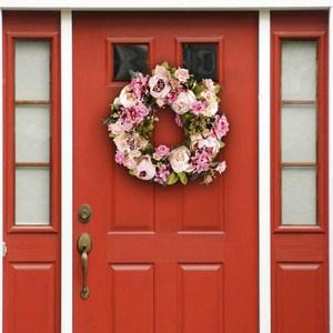 Image 1 - 16นิ้วดอกไม้ประดิษฐ์พวงหรีดประตูคุณภาพดีประดิษฐ์Garlandสำหรับงานแต่งงานตกแต่งHome Party Decor