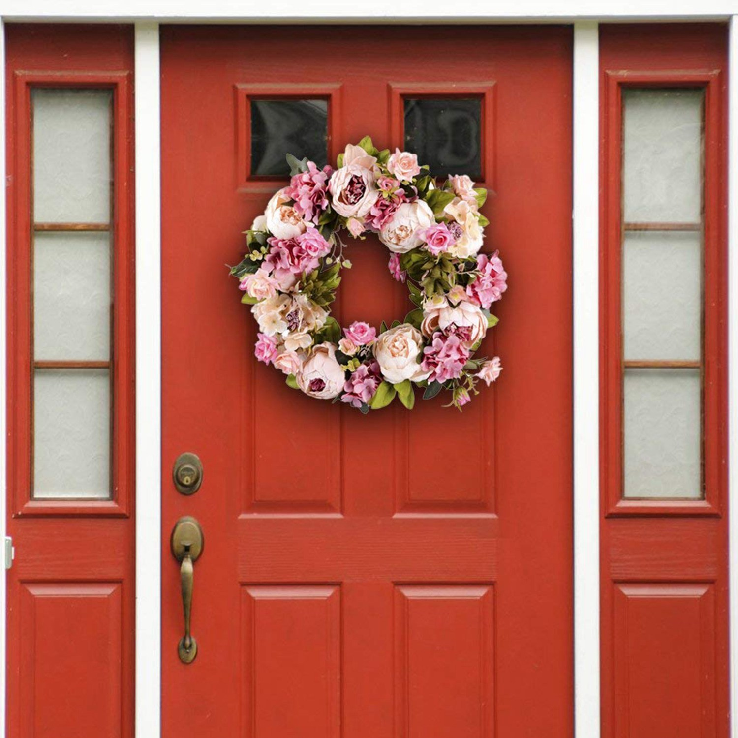 16inch Artificial Flowers Wreaths Door Perfect Quality Artificial Garland For Wedding Decoration Home Party Decor