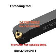 SER1010H11 10*10mm CNC Titular Ferramenta de Rosqueamento Externo, Transformando ferramentas de Rosca para 11ER Inserções, tipo de SERVIÇOS