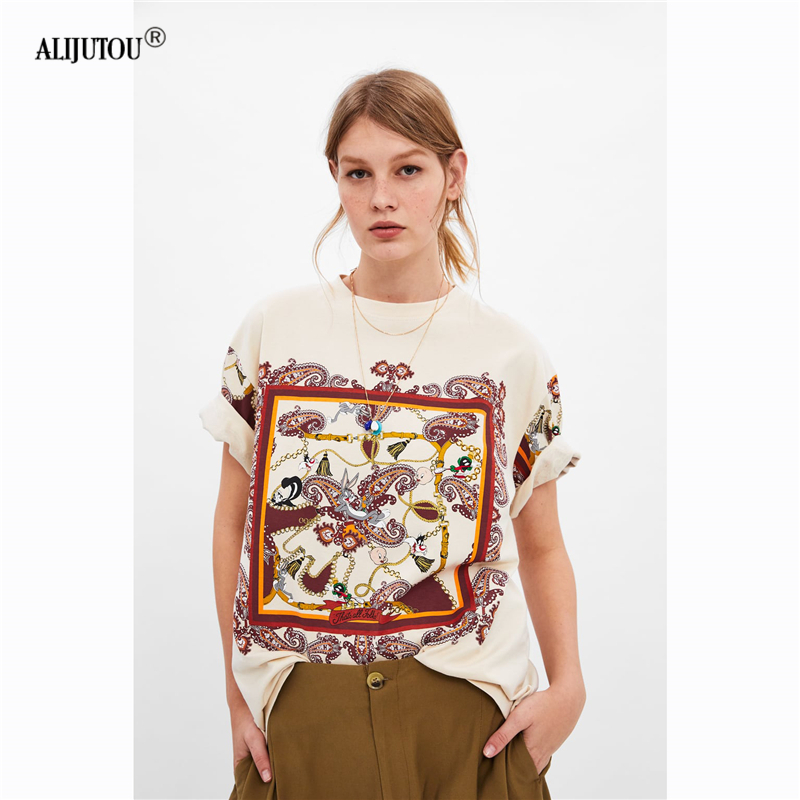 a58468233a8 Zaraing crossover Porky Pig Cartoon Short sleeve Tshirt For Women 2019  summer Cute Casual Tops Female Print Tees O Neck T-shirts