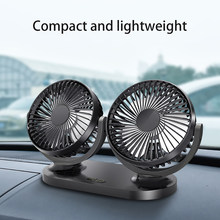12V/24V 360 Degree All-Round Adjustable Car Auto Air Cooling Dual Head Fan Low Noise Car Auto Cooling Air Fan Car Accessory(China)