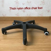 Nylon Revolving Chair Foot To Work In An Office Chair Foot Computer Chair Base Parts Chair Chassis