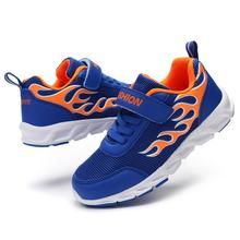 Childrens shoes for boys 2019 autumn Fashion boy flame mesh breathable running Kids casual sports Tree Wrasse
