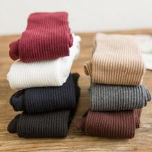 Гольфы Женские однотонные, теплые вязаные мягкие гольфы до бедра, свободные носки для девушек и женщин, 1 пара, весна-осень-зима