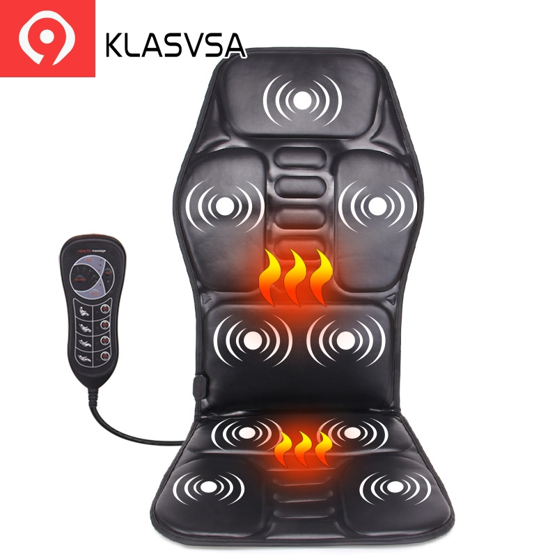 FREE SHIPPING Electric Portable Heating Vibrating Back Massager Cushion for Car Home Office EPM1 back