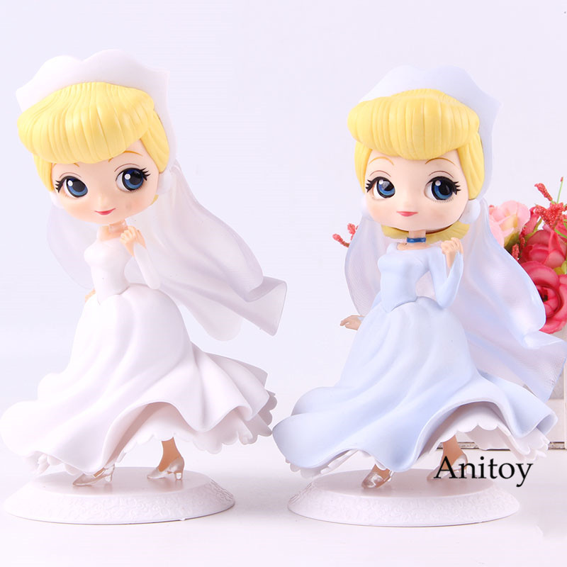 Q Posket Princess Cinderella Action Figure Dreamy Style PVC Collection Model Toy Qposket Characters