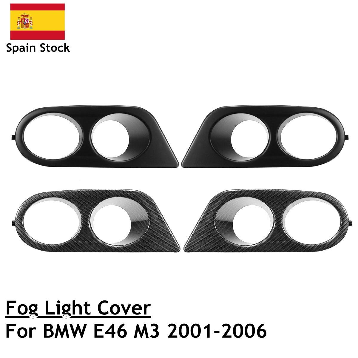 2 stücke Nebel Licht Abdeckung Umgibt Luftkanal Carbon Faser/Schwarz Für BMW E46 M3 2001-2006