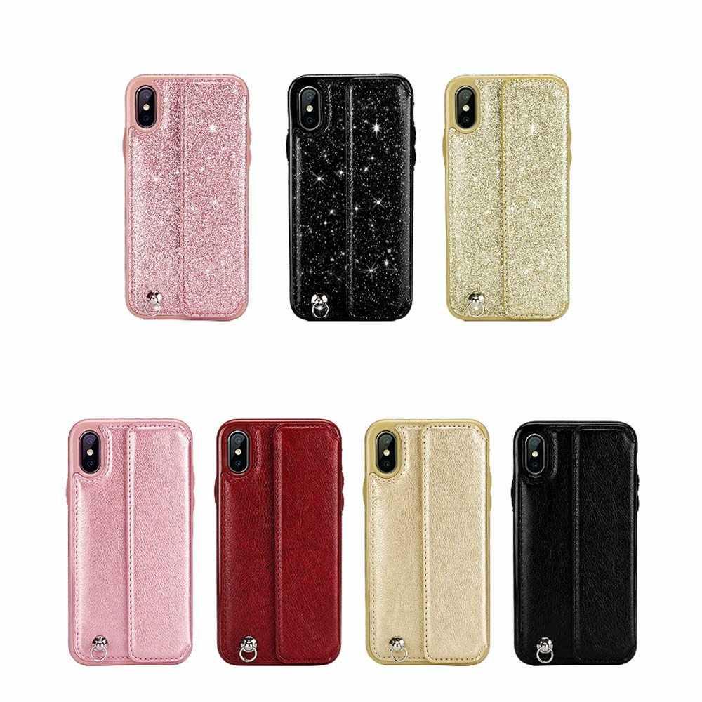 Чехол KISS с отделением для карт, кожаный чехол для iPhone X, XS, 7, 8 Plus, роскошный чехол, флип-чехол для телефона, чехол для iPhone XS Max, 6s, 6 с ремешком на руку