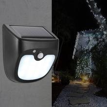 LED Solar Powered Waterproof Wall Light With Human Body Sensor Sconce Lamp for Courtyard Outdoor led hoses wall lamp led smart wall light infrared human body motion sensor sconce lamp with 360 degree rotation for bedside