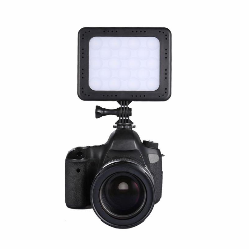 ZF C18 18 LED Video Light on Camera Dimmable 12White 6RGB LED Photo Lighting Lamp for