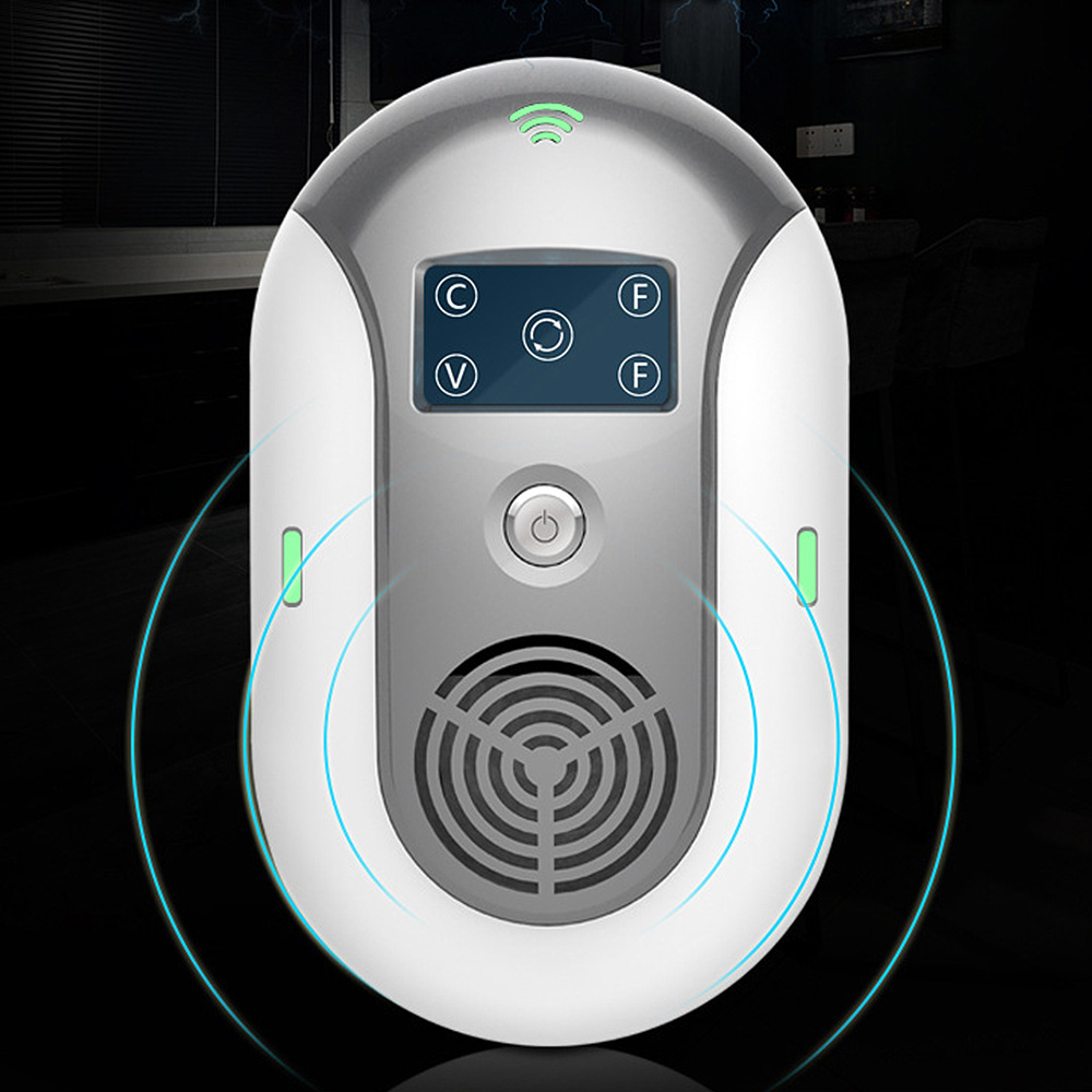 Smart Ultrasonic Mosquito Killer Lamp Pest Control Electronics Mosquito Killer Flea Ant Rat Mice LCD Insect Repellent Protection