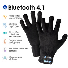 Highever Wireless headphones bluetooth speaker gloves wired sound quality Built-in Microphone Touch Screen Gloves For Xiaomi