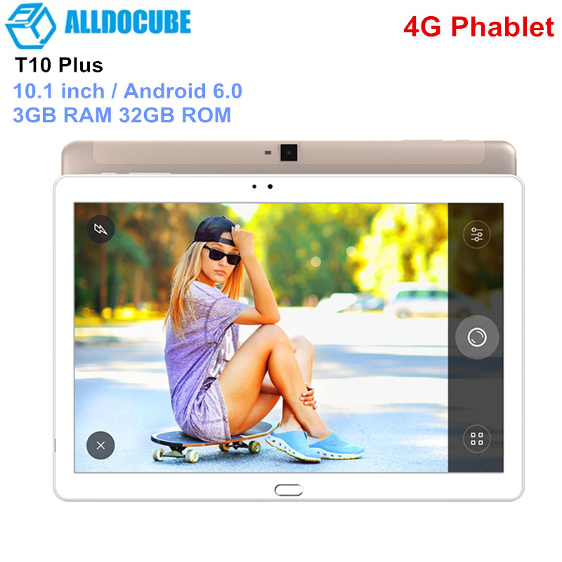 ALLDOCUBE T10 Plus 4G Tablet PC 10.1 inch Phablet Android 6.0 MTK8783 Octa Core 1.5GHz 3GB RAM 32GB ROM 5.0MP Camera Tablets