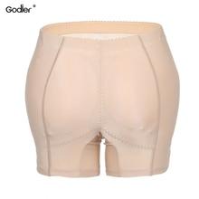 4b1d68a70b72aa Godier Hot Shaper spodnie Sexy szorty majtki kobieta fałszywy tyłek Push Up  wyściełane majtki pośladek Shaper