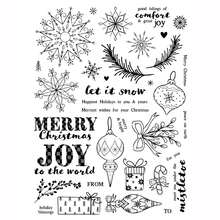 Christmas Transparent Clear Silicone Stamp/Seal for DIY scrapbooking/photo album Decorative clear stamp