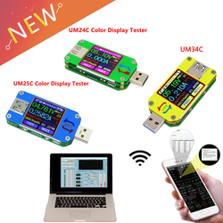 UM34/UM34C UM24/UM24C UM25/UM25C Color LCD Display USB Voltage Tester Current Meter Voltmeter Battery Charge Measure