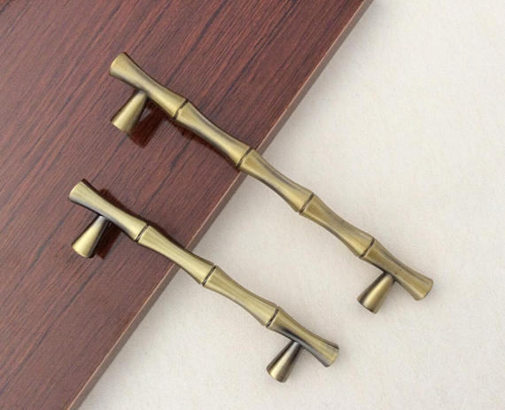 Drawer Handles Dresser Handles Bamboo Bronze Pulls Handles Cabinet Handles Kitchen Hardware in Door Handles from Home Improvement