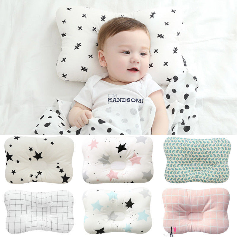 Newborn Baby Infant Rectangle Pillow Babies Stripes Shaping Positioner Prevent Flat Head Anti Roll Bedding Accessories