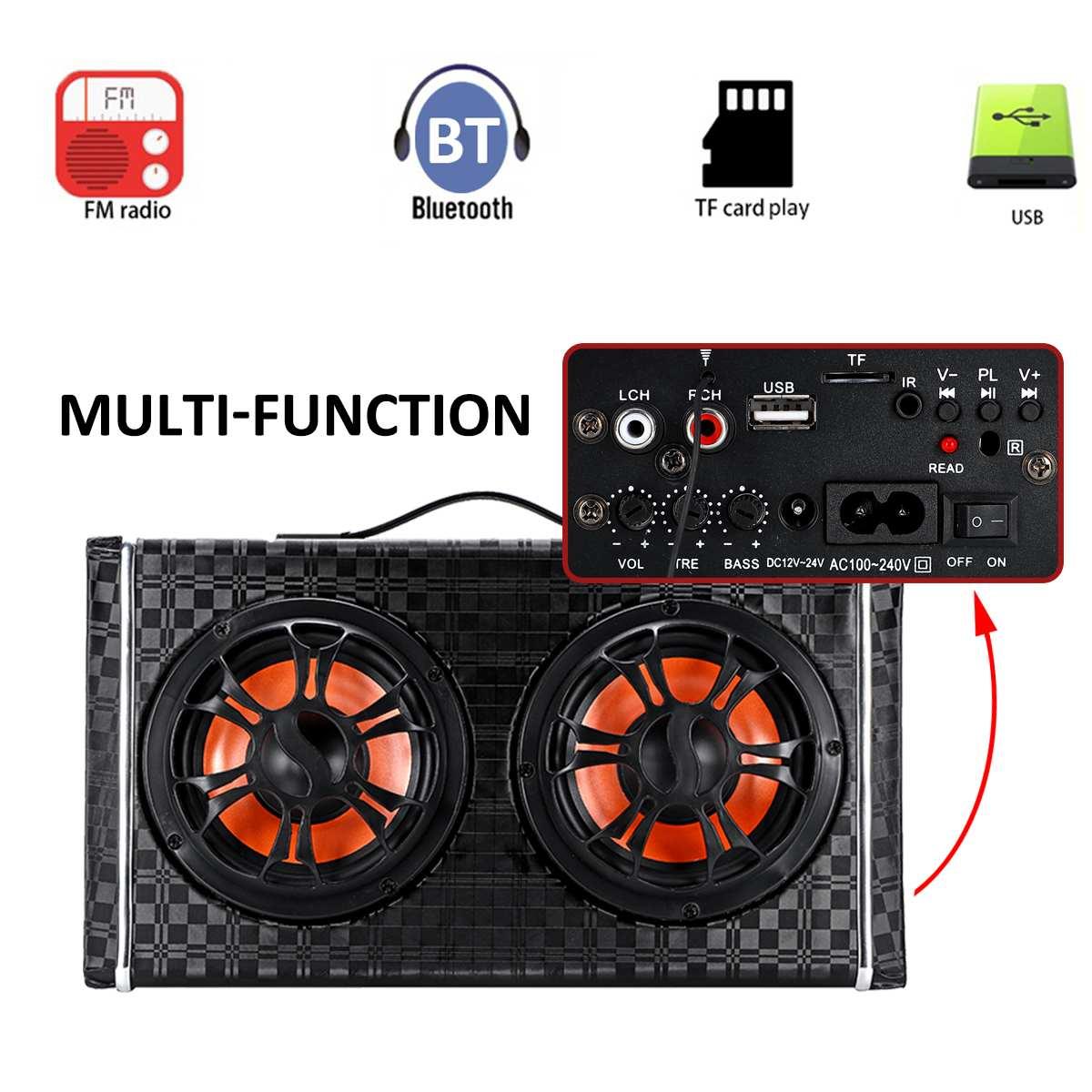 6 zoll DC 12 V/24 V Wireless bluetooth Auto Stereo Verstärker Subwoofer Lautsprecher AC 100-240V home Audio FM Radio Player Lautsprecher