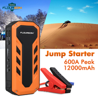 FLOUREON C100 12000mAh With LED Light 600A Peak Current Jump Starter EU Plug Rechargeable Battery Dual USB Output Power Bank