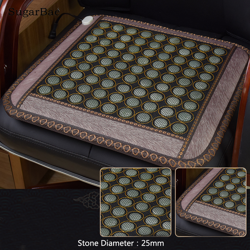 Cheapest Heated Seat Chair Mat Physiotherapy Jade Cushion Size 45x45CM Free Shipping наволочки almofadas decorativas 4 45x45cm cojines page 9
