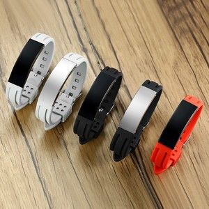 Silicone Sport ID Bracelets for Men Woma