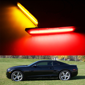 Image 5 - iJDM 12V Amber/Red Full Side Marker Lights For 2010 2015 Chevy Camaro, (Front: Amber, Rear: Red) Powered by Total of 96 SMD LED