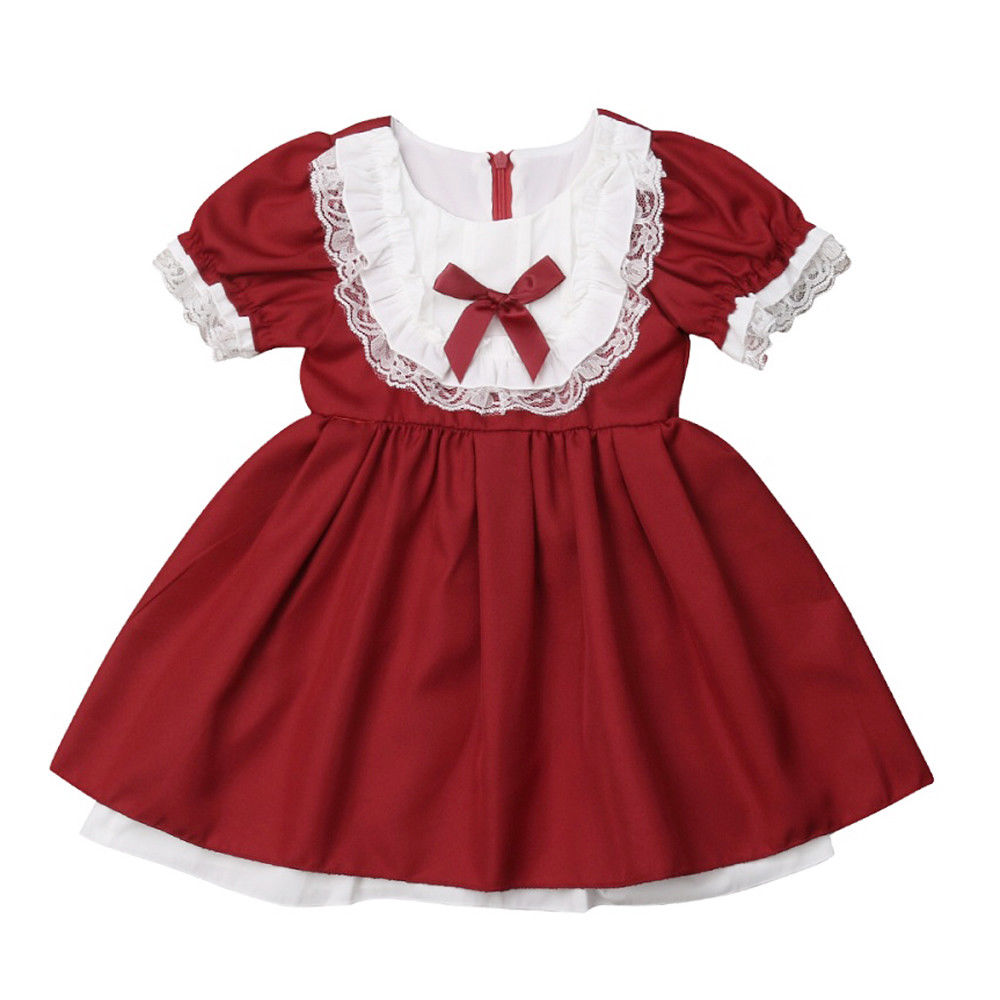 Baby Girl Birthday Wedding Pageant Party Princess Lace Tutu Flower Dress patchwo