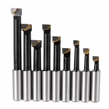 HLZS-9Pcs Durable Hard Alloy Shank Boring Bar Set Carbide Tipped Bars 12Mm For 2 Inch 50Mm Boring Head For Lathe Milling Mayit