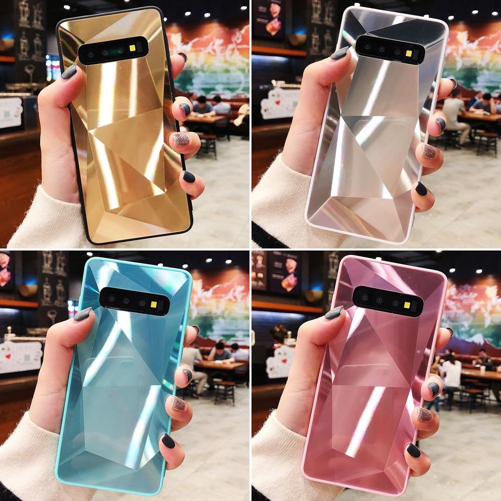 JONSNOW 3D Diamond Case For Samsung Galaxy Note 10 Note 9 8 S8 S9 Plus S10e S10 Plus Cases Holographic Prism Laser Cover Capa