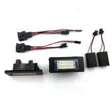 Car LED License Number Plate Light Lamp 2Pcs 12V Fit for Audi A1 2011~ A4(B8)  A7 5d Sportback Q5(08-10)/A4 4D/5D