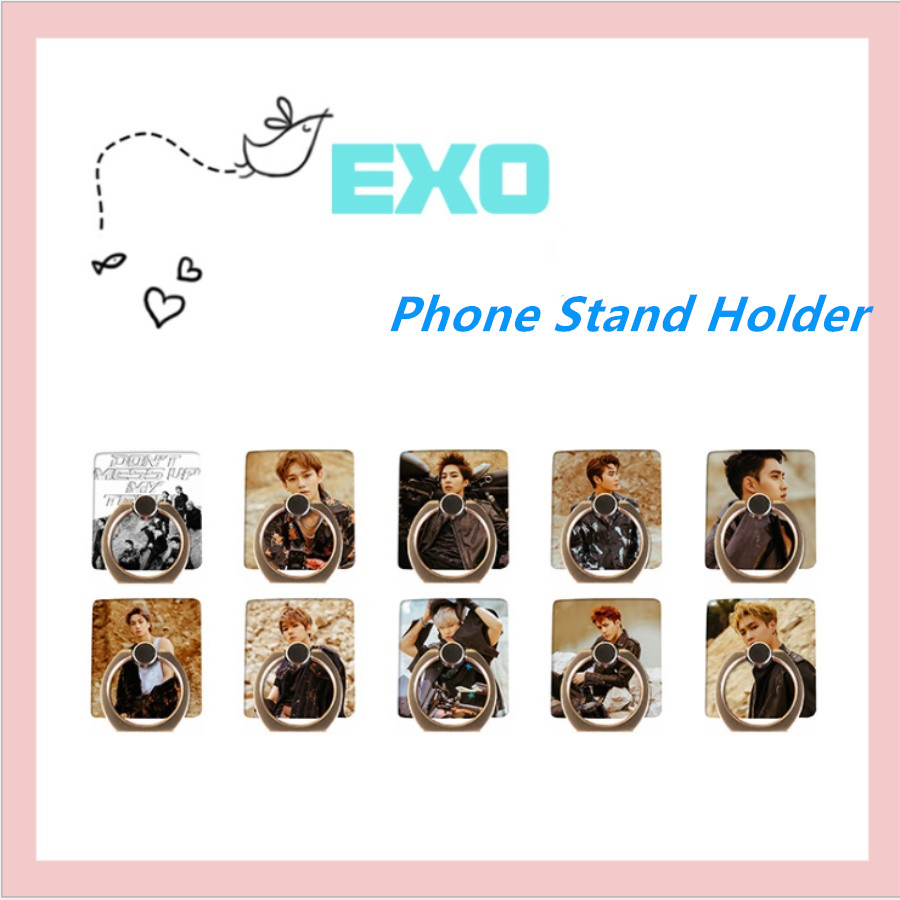 Kpop Exo Dont Mess Up My Tempo Universal Phone Stand Holder Ximin Chanyeol Adjustable Finger Ring Grip 360 Degree Latest Technology Beads & Jewelry Making