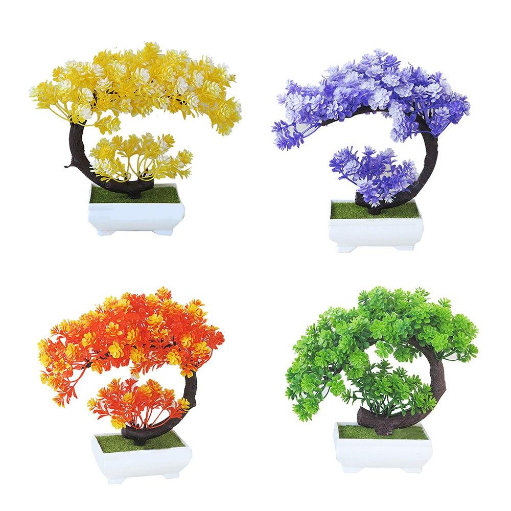 Yapay Bitkiler Agac Mini Plastik Bonsai Oturma Odasi