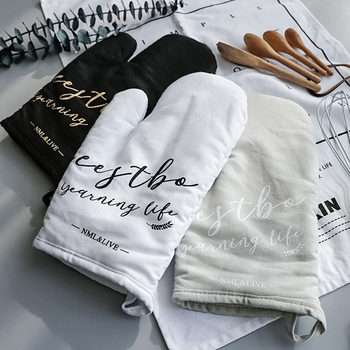 1PC Oven Mitt Glove Of Cotton And Linen Material For Baking And Grilling