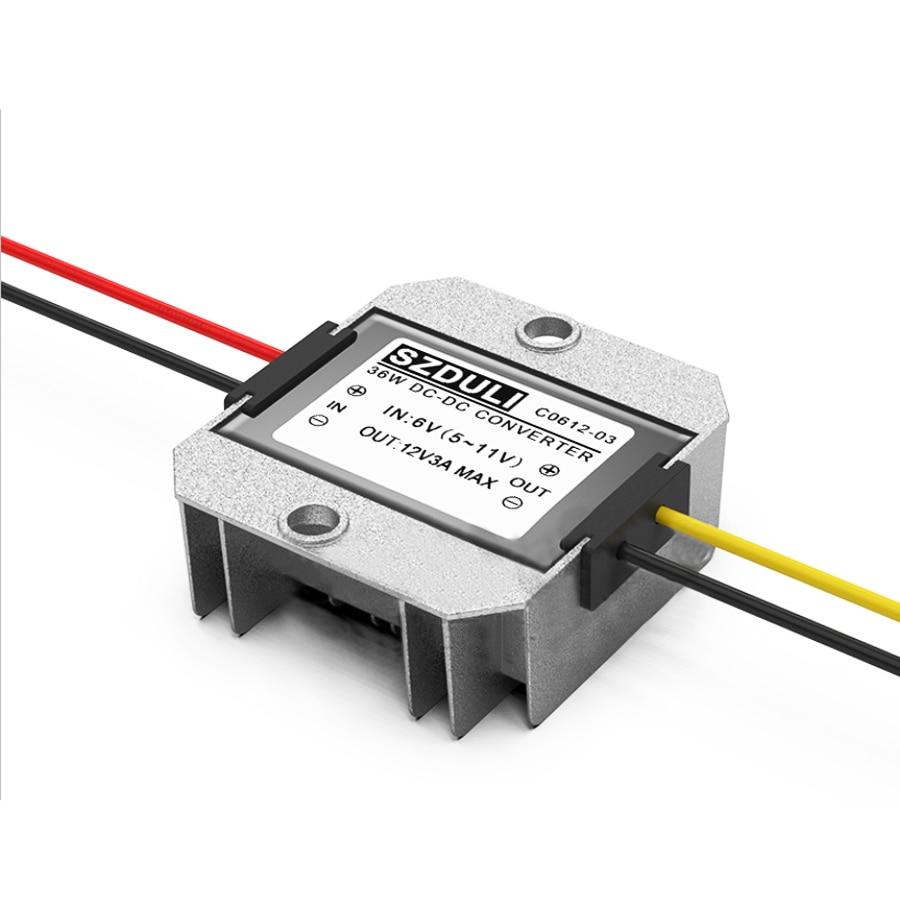 Input 5-11V Aluminum Boost Converter Output DC 12V Regulator Module 3A 36W