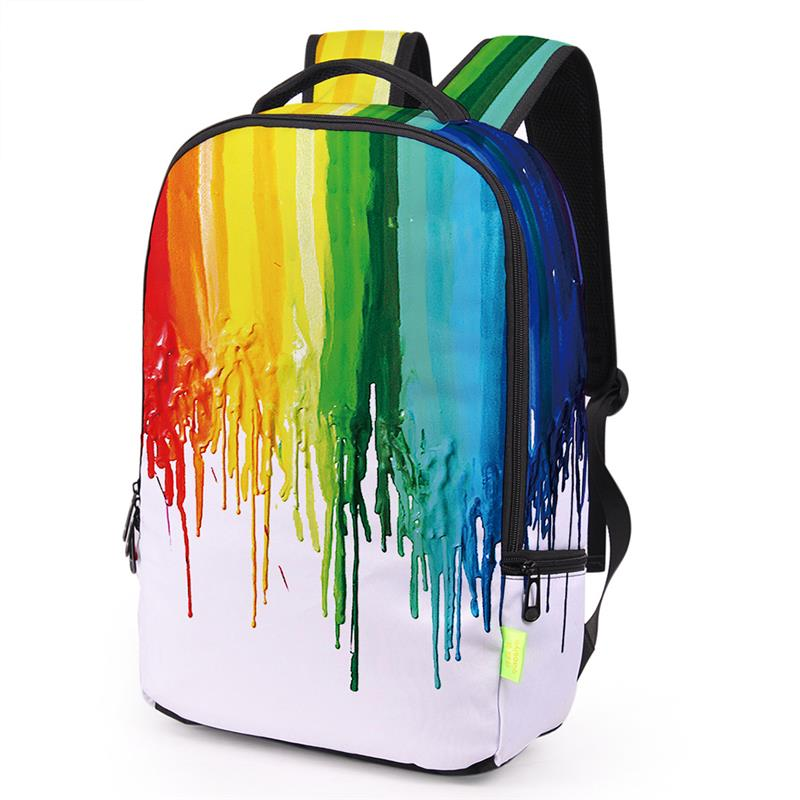 Stylish Graffiti Women Men Backpack 3D Galaxy Travel Satchel Rucksack Bagpack Students Canvas School Bag Bookbag Sac A Dos Ecole