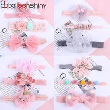 Balleenshiny/комплект из 3 предметов, повязка на голову для маленьких девочек с подарочной коробкой, повязка на голову с бантом, цветком и кроликом, головной убор для малышей, подарок для девочек
