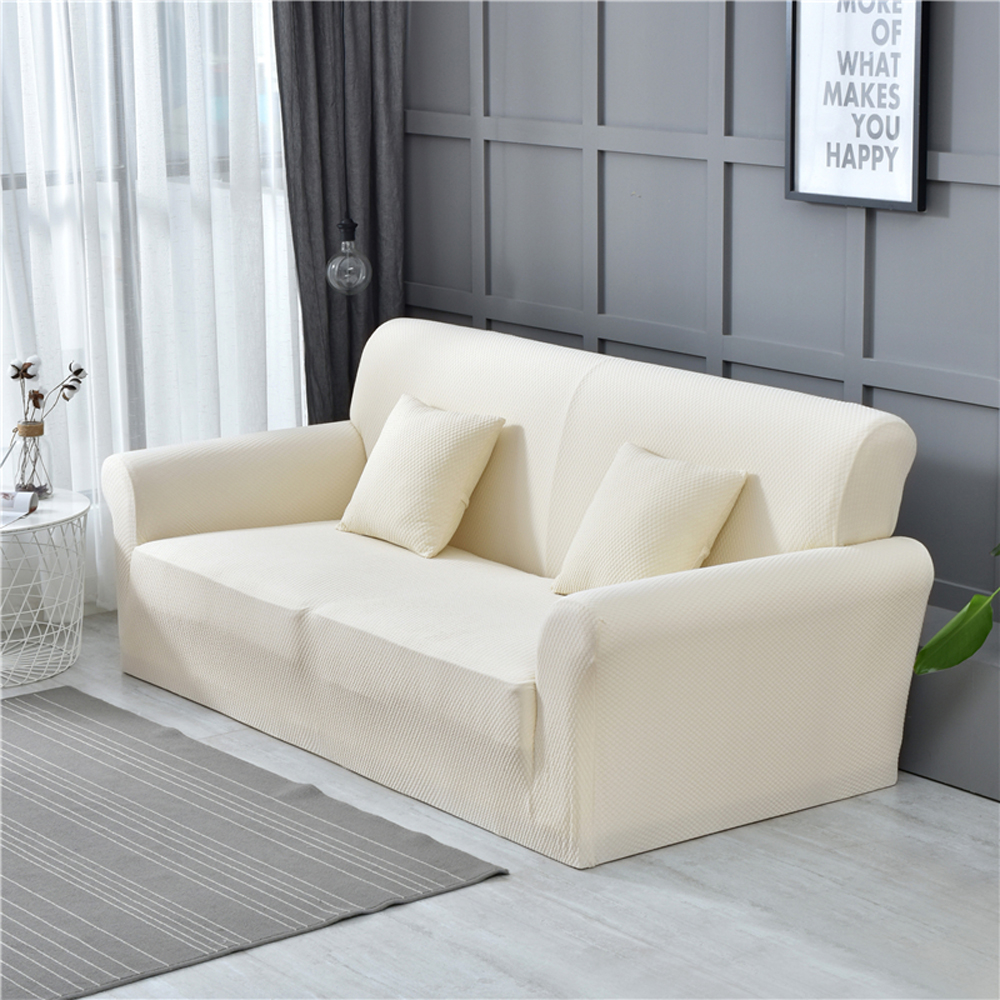 Elastic Thick Knit Fabric Sofa Covers Armchair Loveseat