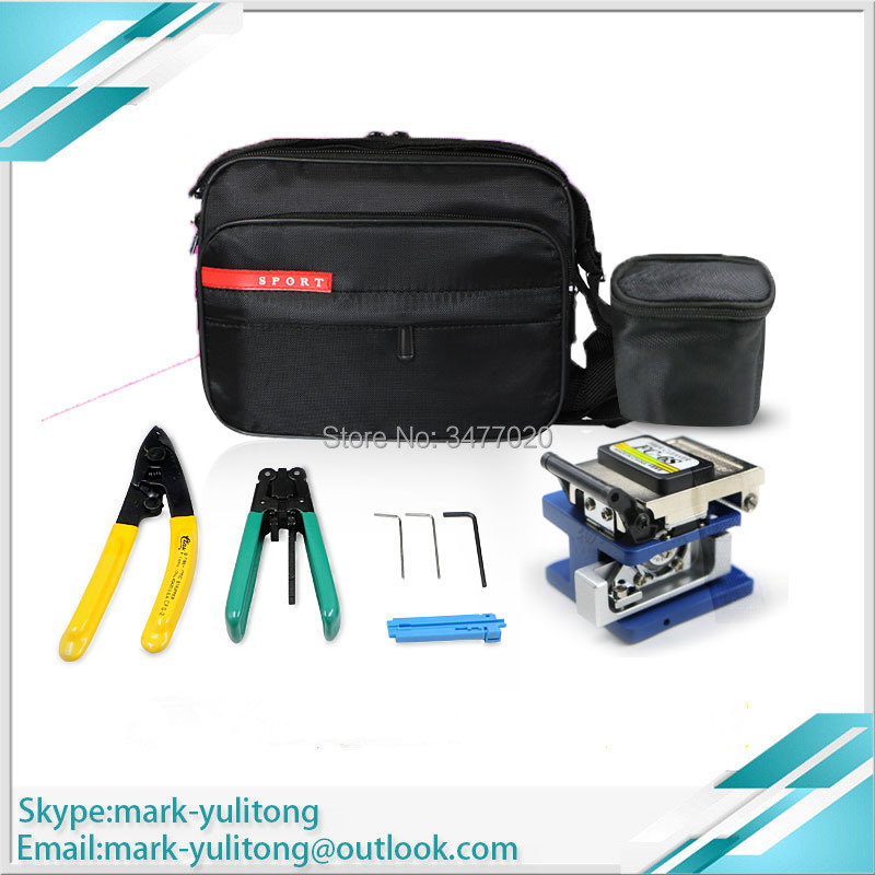 7-piece FTTH FC-6S Cutter + Miller Pliers + Cutting Knife Bag + Wire Stripper + Fixed Length Tool Kit