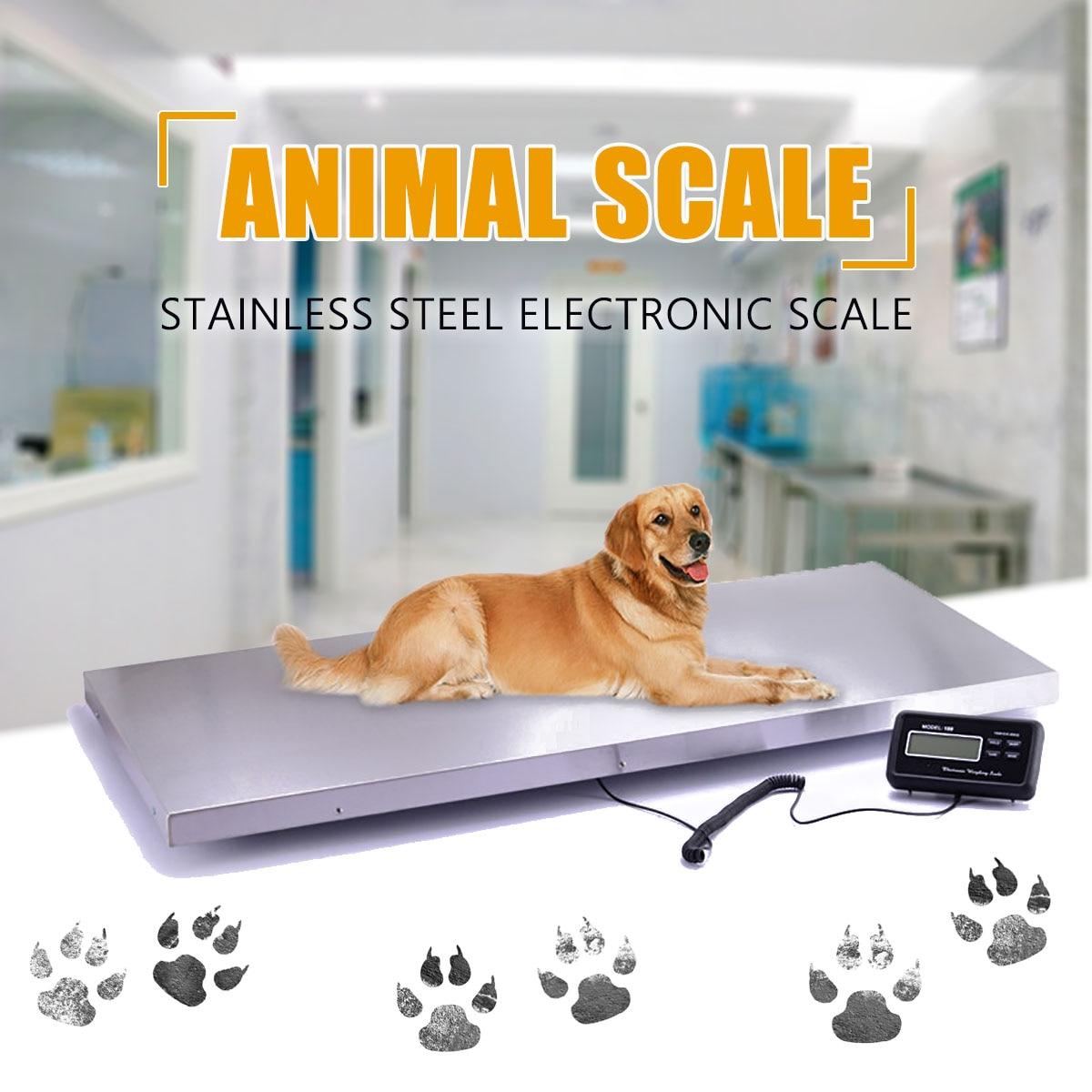 Balanza electrónica para el suelo peso de banco comercial/veterinario básculas de plataforma Digital Animal/paquete báscula de plataforma 300 kg