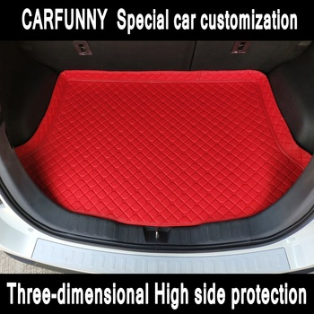 New high side Car Trunk Mats For  Mitsubishi ASXLancerLancer-ex      Car Cargo Rear Boot Liner Trunk Mat Carpet Mercedes-Benz CLA-класс