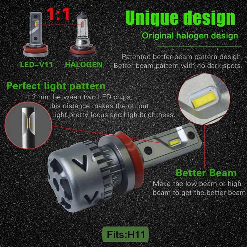 Новые продукты нового поколения Автомобильные Лампы СВЕТОДИОДНЫЕ H1 H3 H8 H9 H4 H7 H11 9012 Led 880 881 9008 H13 9004 9007 Авто светодиодные фары