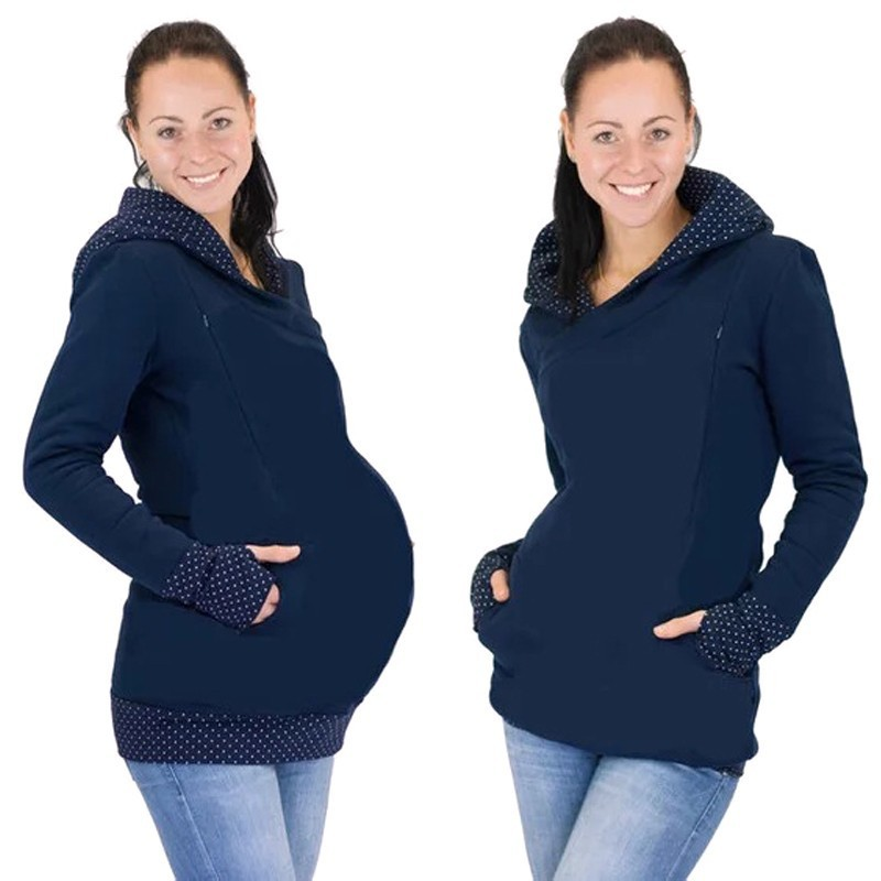 2a05841fda128 Autumn Winter Warm Nursing Maternity Hoodies For Pregnant Women  Breastfeeding Pregnancy Hooded Top Maternity Lactation Sweater-in Hoodies  from Mother & Kids ...