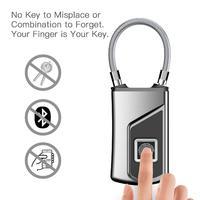 Multifunction Fingerprint Padlock Smart Security Door Lock Waterproof Keyless Unlock