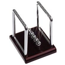 Классический Ньютон Колыбель балансировочные шары металл ремесло подарок, наука Psychology головоломка стол Забавный гаджет с черной пластиковой основой