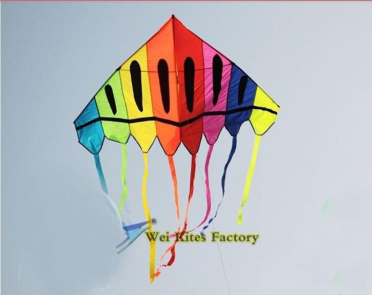 Высокое качество 2 м Радужный Боулинг змеи 5 шт./партия с ручкой lineоткрытый игрушки летающие albatross kites wei кайт завод