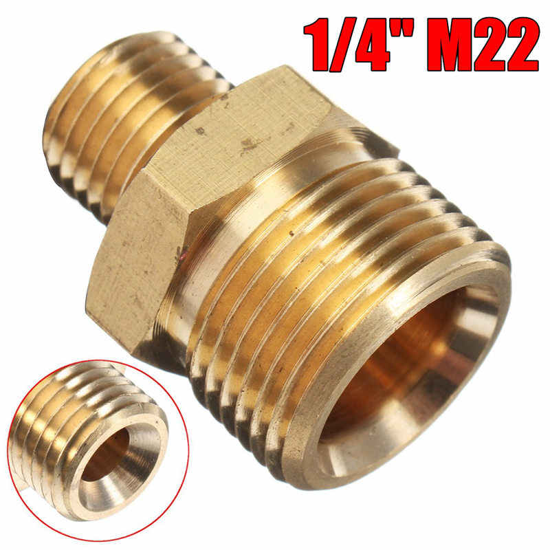 "M22 Man X 1/4 ""Man Hogedrukreiniger Slang Adapter Voor Karcher"