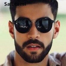 Round Rivet Men Sunglasses 2019 Luxury Brand Small Frame Bla