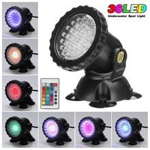 Новинка; 1 комплект 1/2/4 светильник Водонепроницаемый IP68 RGB 36 светодиодный подводный светодиодный прожектор светильник для бассейны фонтаны пруда водяного сад аквариума