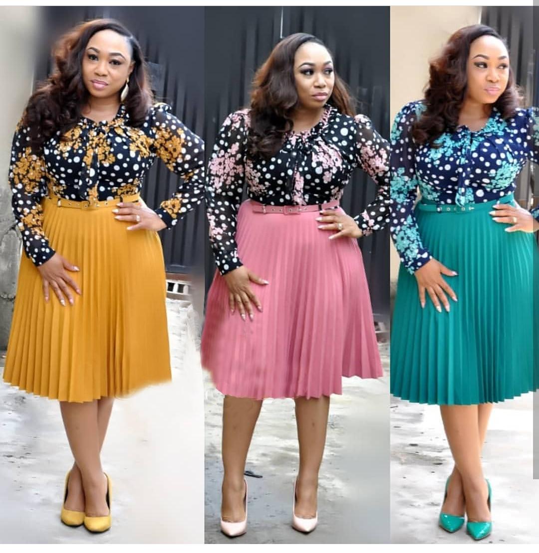 2019 Elegent Fashion Style African Women Plus Size Polyester  Knee-length Dress L-3XL